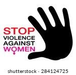 stop violence against women ... | Shutterstock .eps vector #284124725