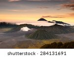 mount bromo volcano during... | Shutterstock . vector #284131691