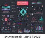 a big set of various creative... | Shutterstock .eps vector #284141429