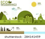 ecological infographic elements ... | Shutterstock .eps vector #284141459