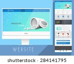 creative website template... | Shutterstock .eps vector #284141795