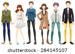 modern fashion for man and woman | Shutterstock .eps vector #284145107