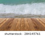 Wooden Floor With Wave...