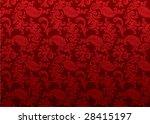 retro floral ornament
