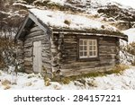 Small Wooden Cabin In National...