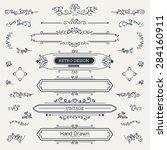 calligraphic vector design... | Shutterstock .eps vector #284160911