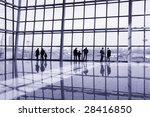 people at modern building... | Shutterstock . vector #28416850