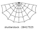 isolated vector spider web... | Shutterstock .eps vector #28417525