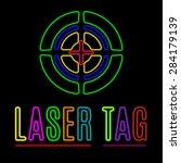 Vector Emblem Of Laser Tag In...