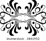 calligraphical figures created... | Shutterstock .eps vector #2841952