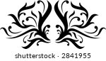 calligraphical figures created...   Shutterstock .eps vector #2841955
