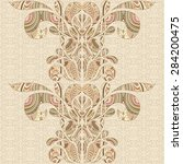 vintage decorative elements.... | Shutterstock .eps vector #284200475