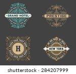 vintage logo template  hotel ... | Shutterstock .eps vector #284207999
