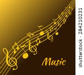 illustration of music and color ... | Shutterstock .eps vector #284210231