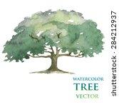 watercolor tree | Shutterstock .eps vector #284212937