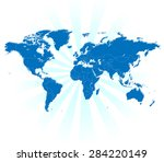 detailed world map with... | Shutterstock .eps vector #284220149