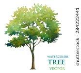 watercolor tree | Shutterstock .eps vector #284222441