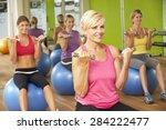 women taking part in gym... | Shutterstock . vector #284222477