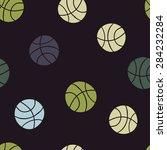 seamless pattern  sports balls | Shutterstock .eps vector #284232284