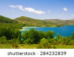 photo of mountain lake | Shutterstock . vector #284232839