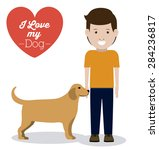 pets love design over white... | Shutterstock .eps vector #284236817