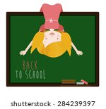 back to school design over... | Shutterstock .eps vector #284239397