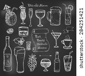 alcohol and drinks menu on... | Shutterstock .eps vector #284251421
