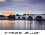 washington dc  usa skyline on... | Shutterstock . vector #284262254