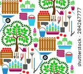 seamless vector pattern with... | Shutterstock .eps vector #284267777