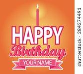happy birthday card template... | Shutterstock .eps vector #284274491