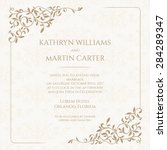 invitation card with floral...