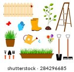 gardening | Shutterstock .eps vector #284296685
