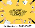 vector quality of service... | Shutterstock .eps vector #284300027