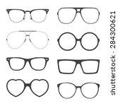 vector set of sunglasses frames.... | Shutterstock .eps vector #284300621