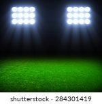 the soccer stadium with the... | Shutterstock . vector #284301419