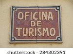 spanish tourist office sign.... | Shutterstock . vector #284302391
