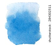 abstract bright blue watercolor ... | Shutterstock . vector #284302511