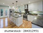 Постер, плакат: New decorated white Kitchen