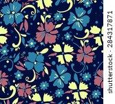 pattern textiles  fashion print.... | Shutterstock .eps vector #284317871