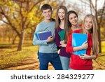 student  university  college... | Shutterstock . vector #284329277