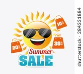 shopping design over white... | Shutterstock .eps vector #284331884