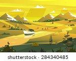 seashore landscape. vector... | Shutterstock .eps vector #284340485