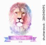 vector set of animals. lion... | Shutterstock .eps vector #284340491