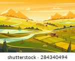 rural landscape. vector design... | Shutterstock .eps vector #284340494