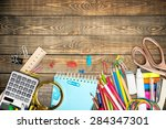 school  design  background. | Shutterstock . vector #284347301