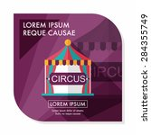circus flat icon with long... | Shutterstock .eps vector #284355749