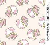 baby socks   cartoon seamless...   Shutterstock . vector #284358584