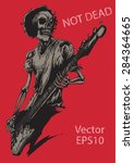 rock human skeleton  musician... | Shutterstock .eps vector #284364665