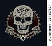 rider skull graphic for t shirt ...   Shutterstock .eps vector #284367824