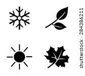 Vector Set Of  Black Seasons...
